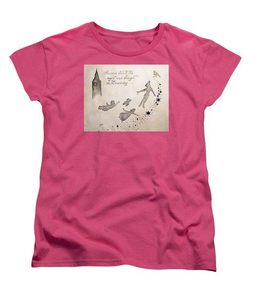 Women's T-Shirt (Standard Cut) featuring the painting Neverland by Edwin Alverio