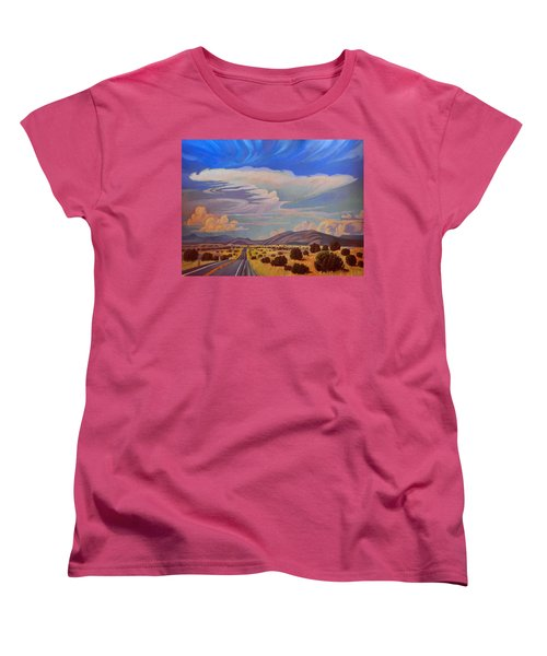 Women's T-Shirt (Standard Cut) featuring the painting New Mexico Cloud Patterns by Art James West