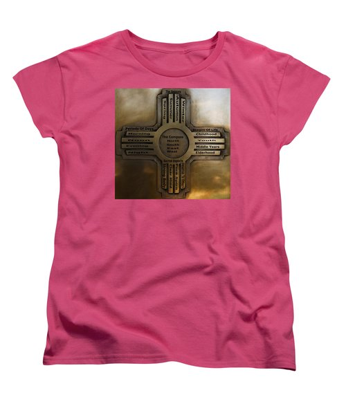 Women's T-Shirt (Standard Cut) featuring the photograph New Mexico State Symbol The Zia by Joseph Frank Baraba