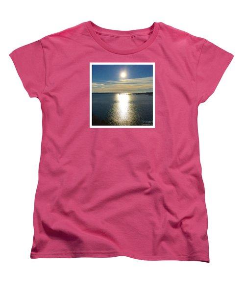 New Year's Day 2016, Casco Bay, Portland, Maine  Women's T-Shirt (Standard Cut) by Patricia E Sundik