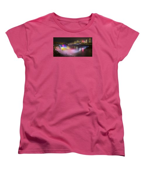 Women's T-Shirt (Standard Cut) featuring the photograph Niagara Rainbow by Mark Papke