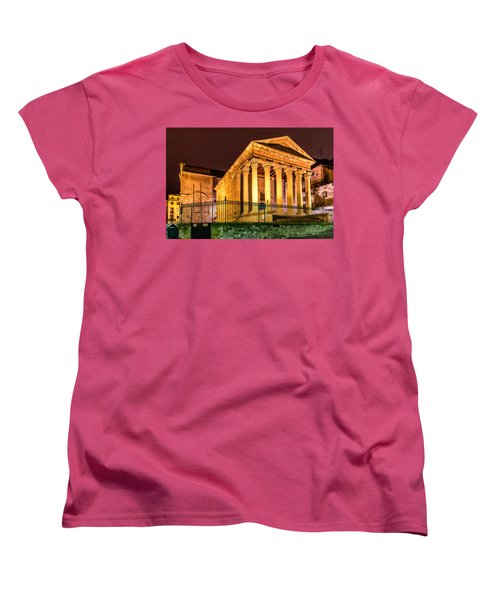 Night At The Roman Temple Women's T-Shirt (Standard Cut) by Randy Scherkenbach