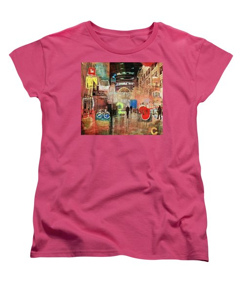 Women's T-Shirt (Standard Cut) featuring the photograph Night In The City by Susan Stone
