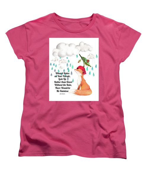 Women's T-Shirt (Standard Cut) featuring the digital art No Rain On My Parade by Colleen Taylor