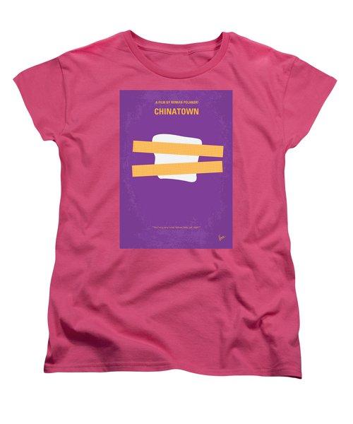 No015 My Chinatown Minimal Movie Poster Women's T-Shirt (Standard Cut) by Chungkong Art