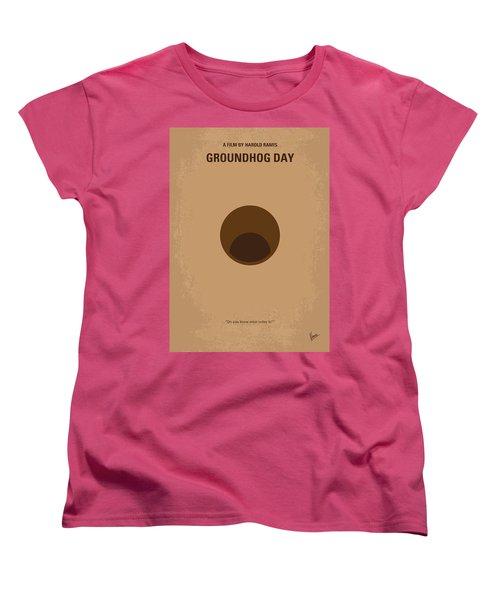 No031 My Groundhog Minimal Movie Poster Women's T-Shirt (Standard Cut) by Chungkong Art