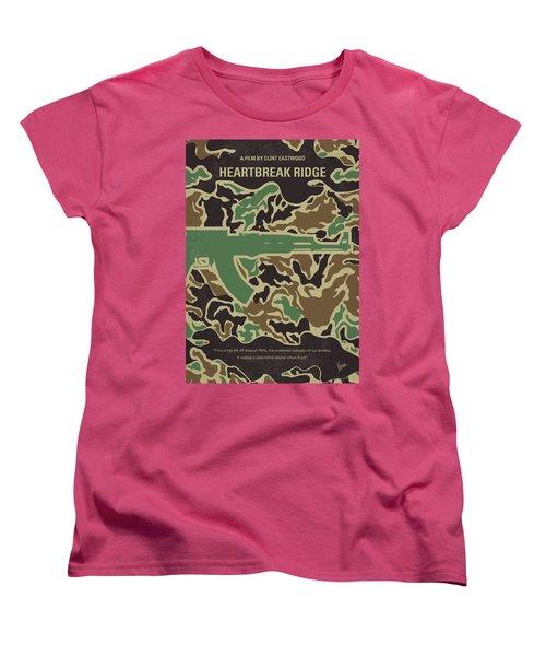 Women's T-Shirt (Standard Cut) featuring the digital art No747 My Heartbreak Ridge Minimal Movie Poster by Chungkong Art