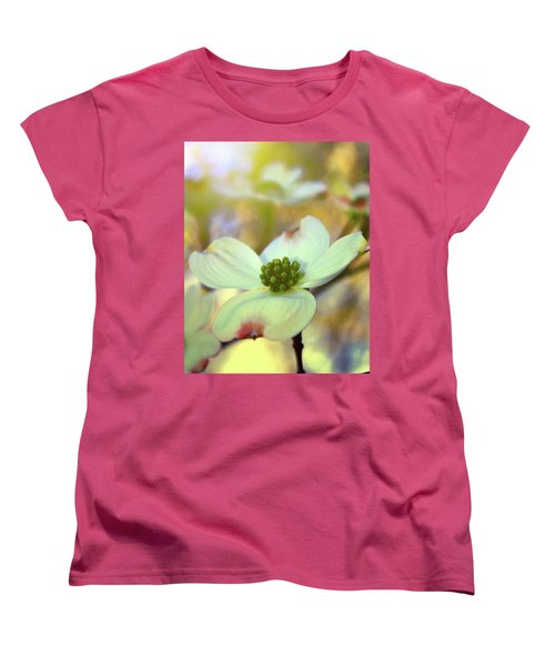 Women's T-Shirt (Standard Cut) featuring the painting North Carolina Dogwood State Flower by Gray  Artus