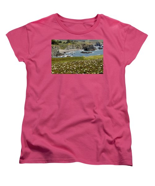Northern California Coast Scene Women's T-Shirt (Standard Cut) by Mick Anderson