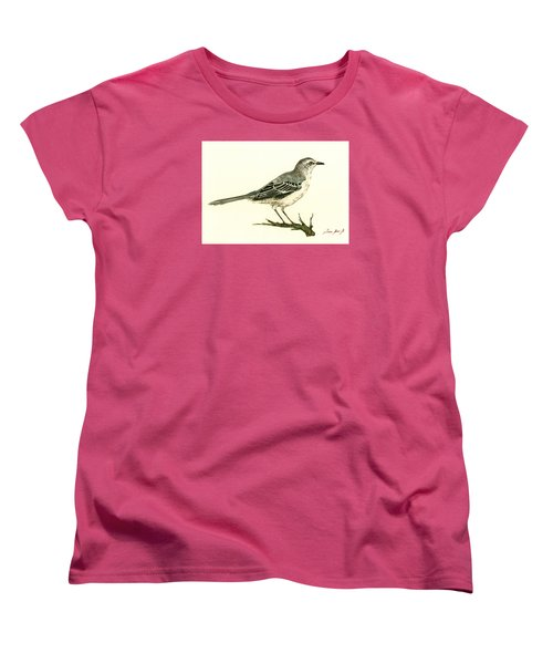 Northern Mockingbird Women's T-Shirt (Standard Cut) by Juan  Bosco