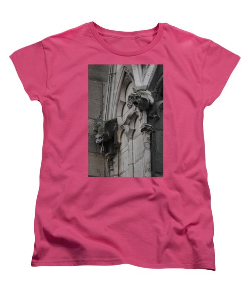 Notre Dame Grotesques Women's T-Shirt (Standard Cut) by Christopher Kirby