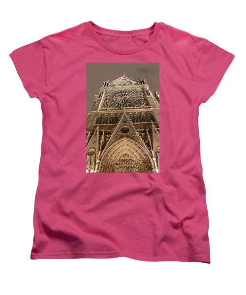 Women's T-Shirt (Standard Cut) featuring the photograph Notre Dame North by Christopher Kirby