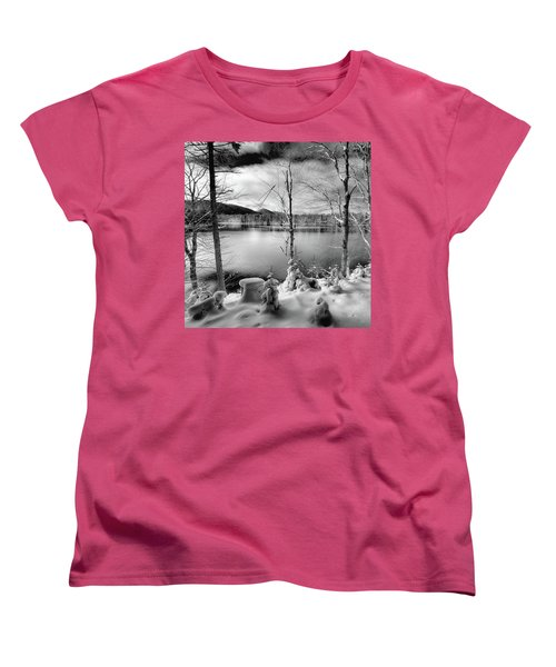 November On West Lake Women's T-Shirt (Standard Cut) by David Patterson