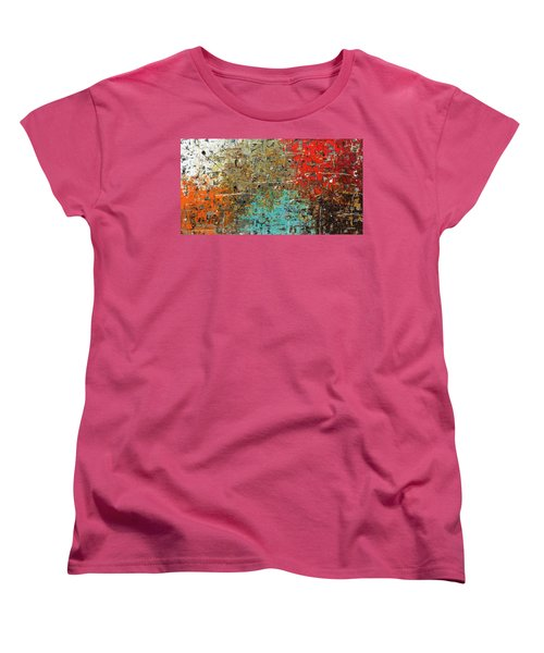Women's T-Shirt (Standard Cut) featuring the painting Now Or Never by Carmen Guedez