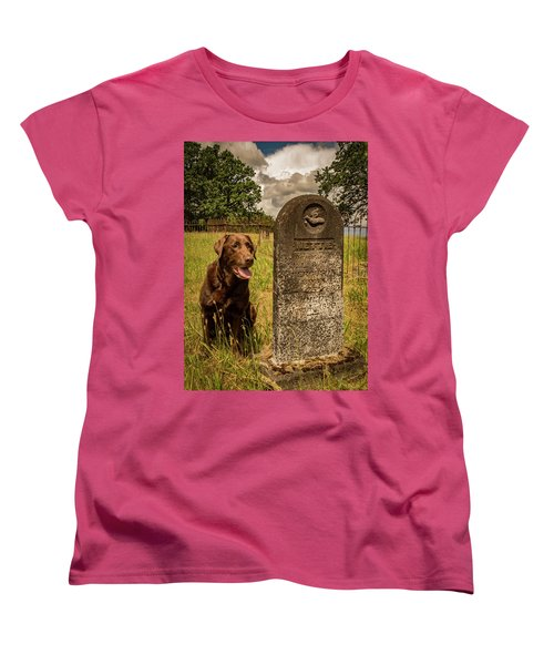 Women's T-Shirt (Standard Cut) featuring the photograph Nute In The Cemetery by Jean Noren