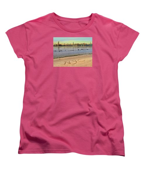 Women's T-Shirt (Standard Cut) featuring the photograph NYC by Nina Bradica