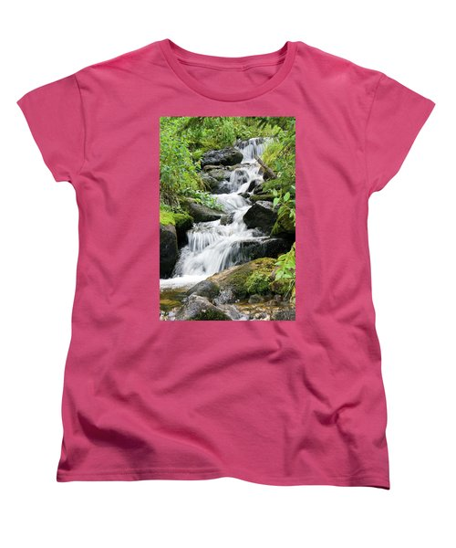 Women's T-Shirt (Standard Cut) featuring the photograph Oasis Cascade by David Chandler