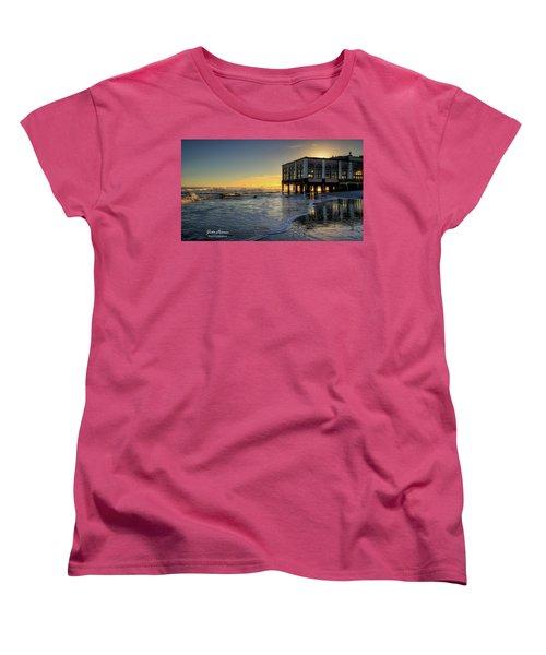 Oc Music Pier Sunset Women's T-Shirt (Standard Cut) by John Loreaux