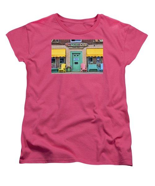 Ocean City N J Surf Cafe Women's T-Shirt (Standard Cut) by Allen Beatty