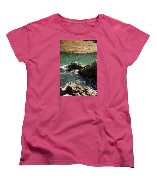 Ocean Rock Near Carmel Women's T-Shirt (Standard Cut) by Ted Pollard
