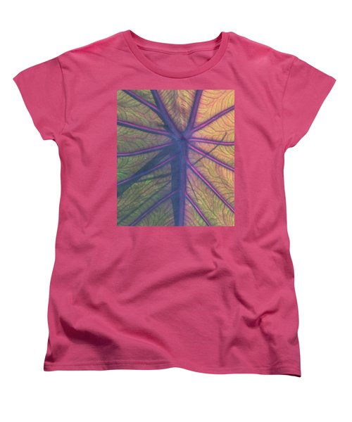 Women's T-Shirt (Standard Cut) featuring the photograph October Leaf by Peg Toliver