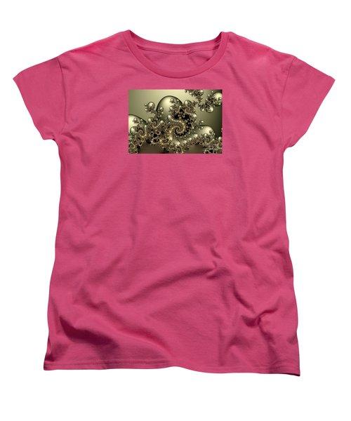 Women's T-Shirt (Standard Cut) featuring the digital art Octopus by Karin Kuhlmann