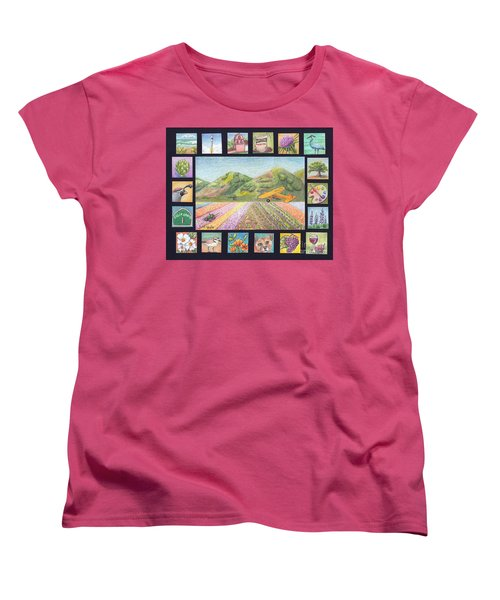 Women's T-Shirt (Standard Cut) featuring the drawing Ode To Lompoc by Terry Taylor