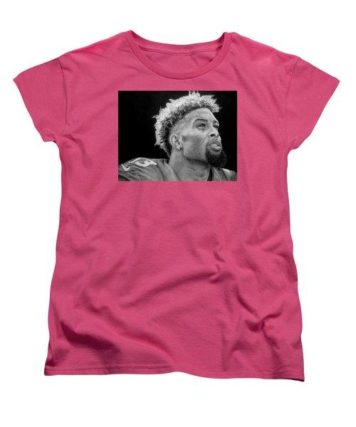 Odell Beckham Jr. Drawing Women's T-Shirt (Standard Cut) by Angelee Borrero