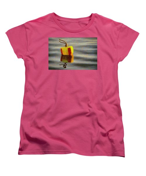 Women's T-Shirt (Standard Cut) featuring the painting Oh Buoy by Jeff Kolker
