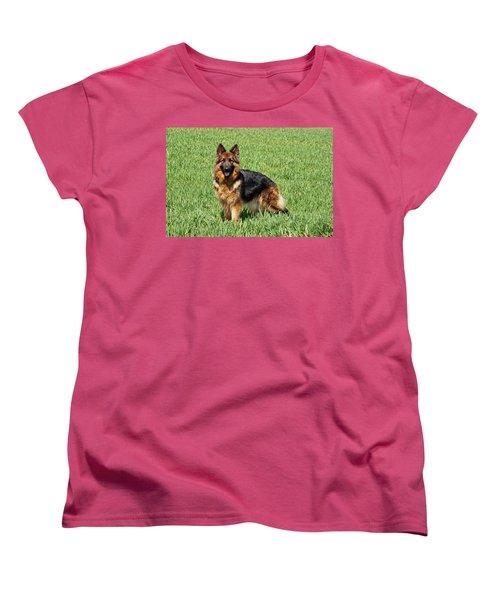 Ohana In Field Women's T-Shirt (Standard Cut) by Sandy Keeton