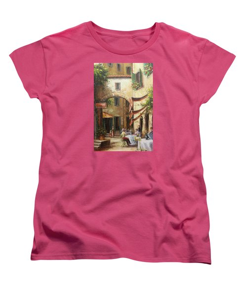 Oil Msc 050 Women's T-Shirt (Standard Cut) by Mario Sergio Calzi