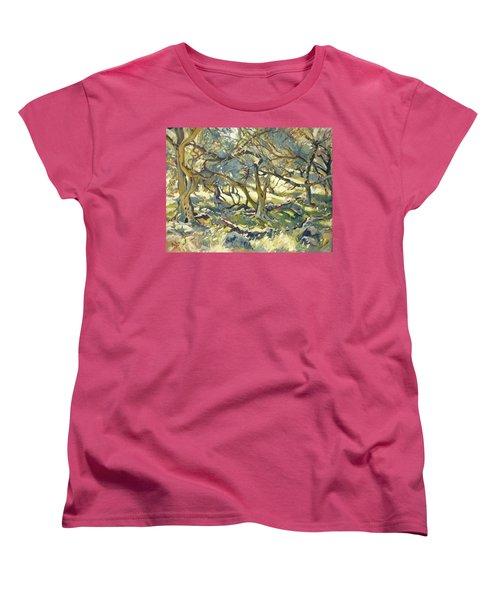 Oilve Grove Marmari Beach Women's T-Shirt (Standard Fit)