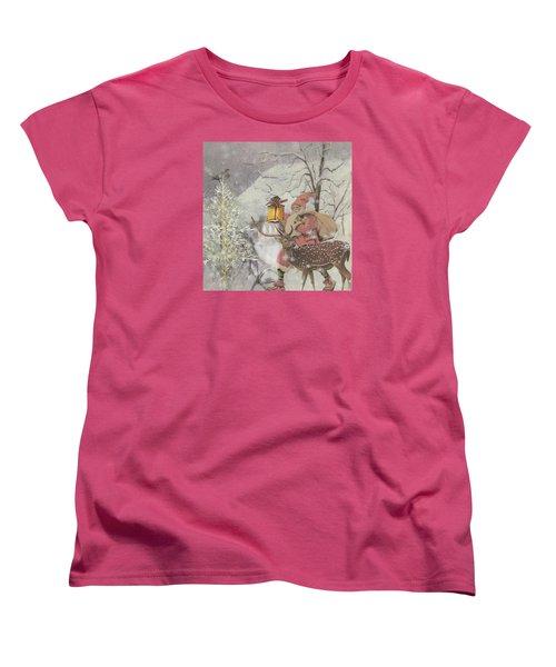 Ol' Saint Nick Women's T-Shirt (Standard Cut) by Diana Boyd