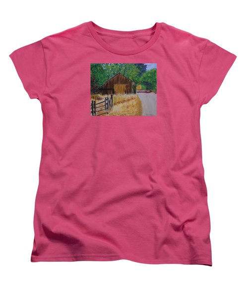 Old Barn Sonoma County Women's T-Shirt (Standard Cut) by Mike Caitham