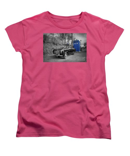 Old British Police Car And Tardis Women's T-Shirt (Standard Cut)
