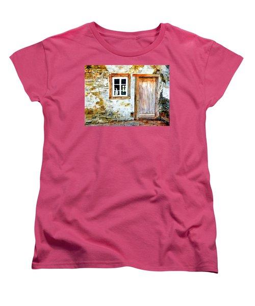 Old Farm House Women's T-Shirt (Standard Cut) by Sher Nasser