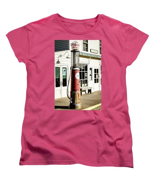 Women's T-Shirt (Standard Cut) featuring the photograph Old Fuel Pump by Alexey Stiop