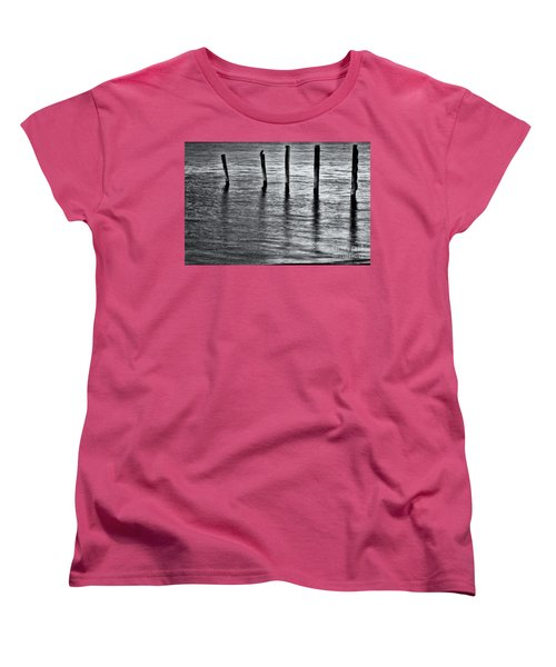 Women's T-Shirt (Standard Cut) featuring the photograph Old Jetty - S by Werner Padarin