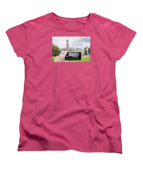 Old Main Through Iphone  Women's T-Shirt (Standard Cut) by John McGraw
