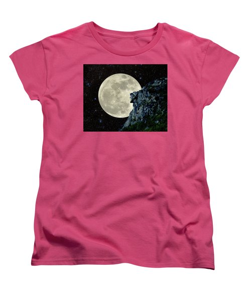 Women's T-Shirt (Standard Cut) featuring the photograph Old Man / Man In The Moon by Larry Landolfi