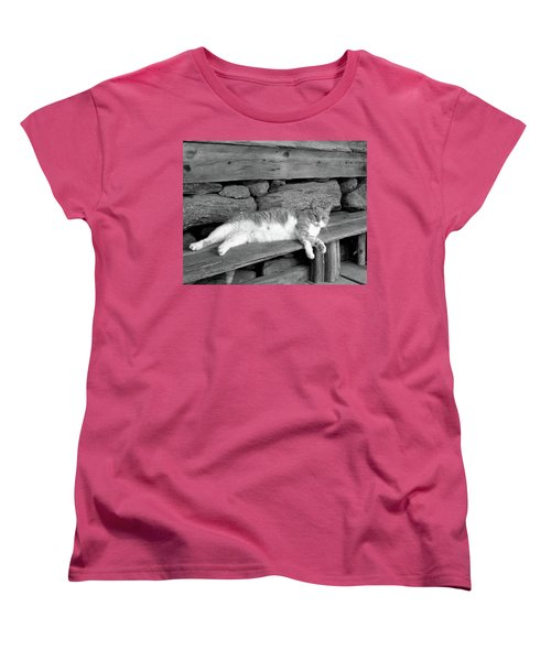 Women's T-Shirt (Standard Cut) featuring the photograph Old Mill Cat by Sandi OReilly
