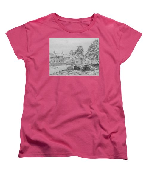 Old Packhorse Bridge Wycoller Women's T-Shirt (Standard Cut) by Anthony Lyon