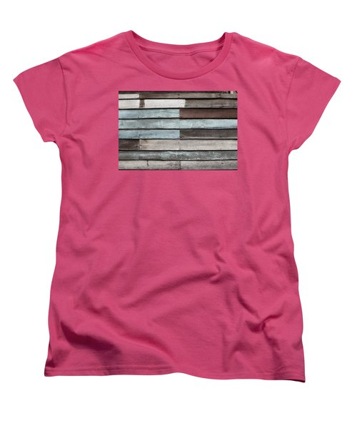 Old Pale Wood Wall Women's T-Shirt (Standard Cut) by Jingjits Photography