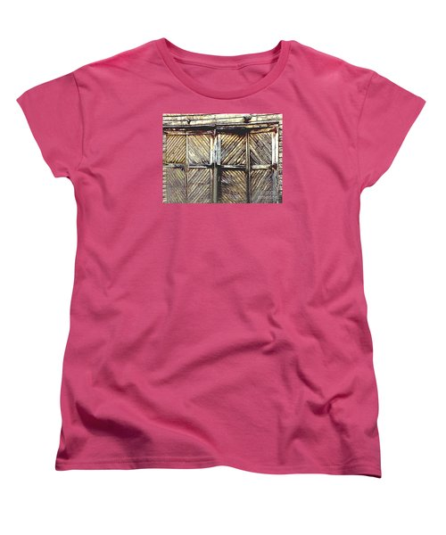 Old Rusted Barn Door Women's T-Shirt (Standard Cut) by Merton Allen