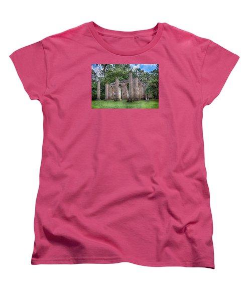 Old Sheldon Church Women's T-Shirt (Standard Cut) by Patricia Schaefer