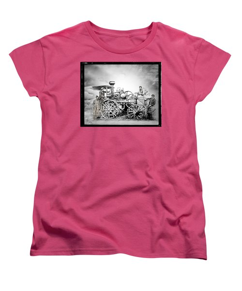 Old Steam Tractor Women's T-Shirt (Standard Cut) by Mark Allen