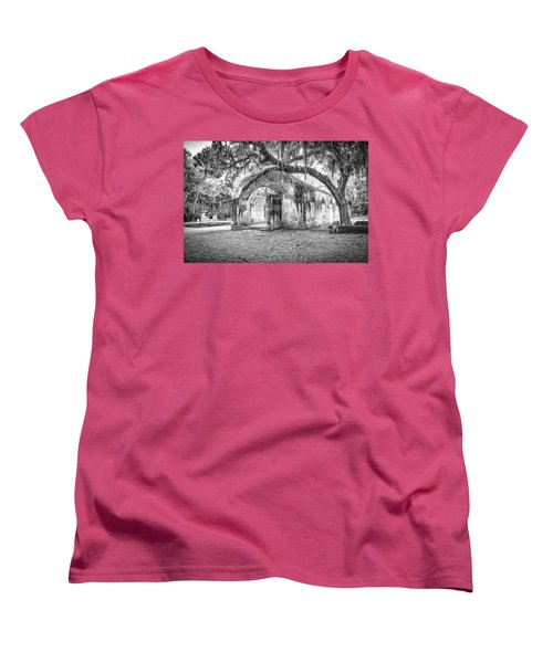 Old Tabby Church Women's T-Shirt (Standard Cut) by Scott Hansen