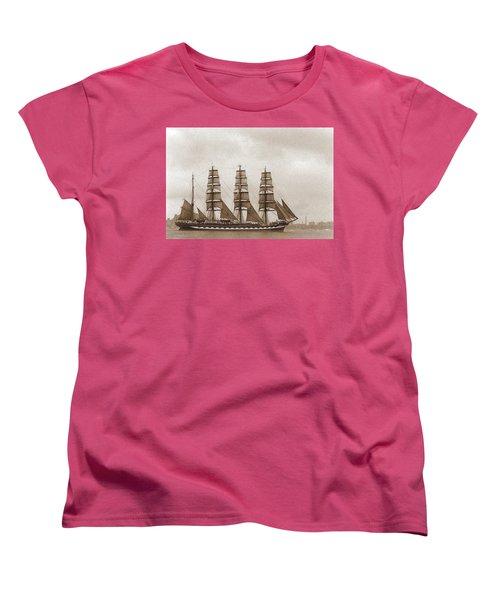 Old Time Schooner Women's T-Shirt (Standard Cut)