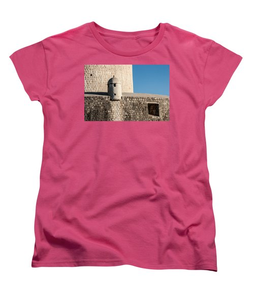 Women's T-Shirt (Standard Cut) featuring the photograph Old Town Dubrovnik by Silvia Bruno