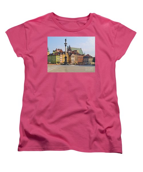 Old Town Square Zamkowy Plac In Warsaw Women's T-Shirt (Standard Cut) by Anastasy Yarmolovich